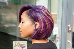 Purple hair on black women