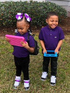 Black Baby Girls, Black Kids, Black Babies, Cute Twins, Cute Babies, Boy And Girl Best Friends, Boy Or Girl, Twin Outfits, Kids Outfits