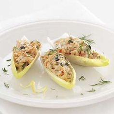 Salmon Salad Stuffed Endive Leaves Recipe from Melissa Carafa in Broomall — from Healthy Cooking magazine