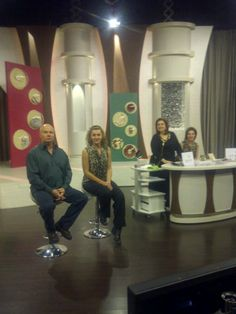 QVC Italy, on the set