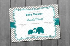 Baby shower invitation poem open house wording back of invitation teal blue elephant baby shower invitation and free thank you card printable diy on etsy 1000 filmwisefo