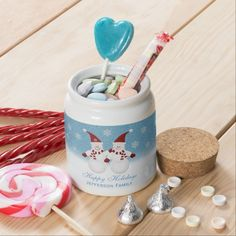 #Snowman: Personalized #Candy #Jar