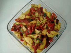 Patate, peperoni e cipolle