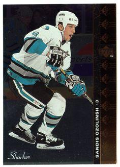 Sandis Ozolinsh # SP 73 - 1994-95 Upper Deck Hockey SP Inserts Hockey Cards, Baseball Cards, San Jose Sharks, Upper Deck, Nhl, The Past, Mint, Sports, Hs Sports