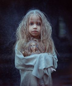 Girl and her Dolly ~ Author: nadima Children Photography, Fine Art Photography, Portrait Photography, Little Girl Lost, Perspective Photography, Jolie Photo, Photo Series, Creative Portraits, Beautiful Children