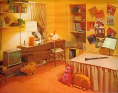1960's bedroom 3    From Seventeen, March 1963