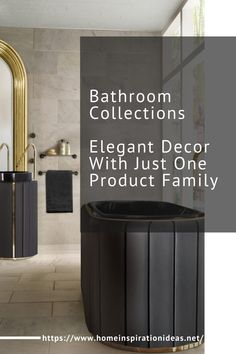 The Darian Collection is a first and special one for all the products – except the mirrors – are made in synthetic leather! This collection has a bathtub, a golden mirror, a black mirror, towel rack and a freestanding.