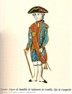 Batallón de Infanteria de Castilla, Fijo de Campeche 1785 Tambor Mayor