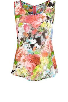 I just LOVE this colorful floral spring tank.