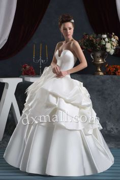 Ball Gown Wedding Dresses Picture Shown Floor Length Satin picture shown 010010200564