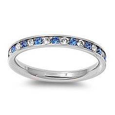 Stainless Steel Eternity Blue and Clear Cz Wedding Band Ring 3mm (3,4,5,6,7,8,9,10); Comes with Free Gift Box, http://www.amazon.com/dp/B007MI2ILM/ref=cm_sw_r_pi_awdm_yWhbvb1VRDHBR