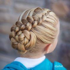 Dutch Braid to a bun!  #twinshair #hairinspiration #cutegirlshairstyles #dancehair