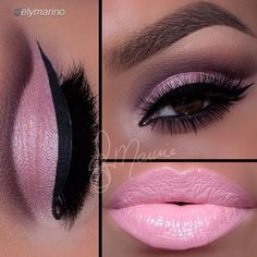 Valentine's Day Makeup Ideas: Soft Pink Cut Crease with Pink Lips Ely Marino Cute Makeup, Gorgeous Makeup, Pretty Makeup, Lip Makeup, Beauty Makeup, Gold Eyeliner, Gold Eyeshadow, Eyeshadows, Makeup Goals