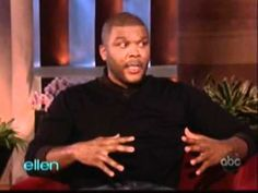 Tyler Perry@Ellen this is him making the world happy proud