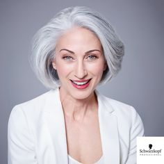 Natural Staight Bob Style White Wig For Old Ladies Grey White Hair, Grey Curly Hair, Curly Hair Styles, Short Hairstyles Over 50, Hairstyles With Bangs, Trendy Hairstyles, Monofilament Wigs, Magic Hair, Hair Today