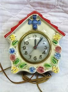 Hull Pottery Kitchen Wall Clock Sold for $56.00 Bidders 35