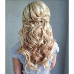 Loose curled half up