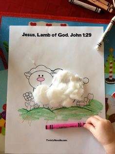 Antidotes for Mom: The Lamb of God Craft for Kids