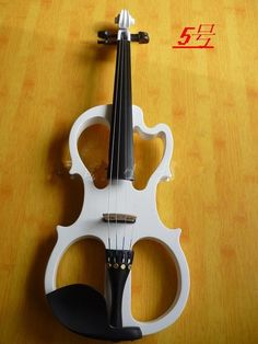 109.25$  Watch here - http://ali82v.worldwells.pw/go.php?t=32379670320 - N5 High quality white color electric violin 4/4 violin handcraft violino Musical Instruments violin Brazil Wood bow
