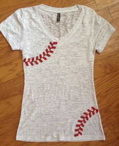 Rhinestone baseball mom shirt burnout tee by FleurdeBling on Etsy, $26.99 Great for the baseball season to come!