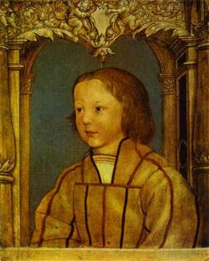 Portrait of a Boy with Blond Hair - Hans Holbein the Younger -
