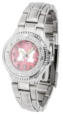 Michigan Wolverines Ladies Watch Mother-of-Pearl Face by SunTime. $94.95. Links Make Watch Adjustable. Mother-of-Pearl and Crystal Face. Women. Stainless Steel Band. Officially Licensed Michigan Wolverines Ladies Stainless Stell Watch. Michigan Wolverines Ladies Watch Mother-of-Pearl Face This Wolverines watch has a functional rotating bezel that is color-coordinated to compliment your favorite team logo. The Competitor Steel utilizes an attractive and secure stainless steel band...