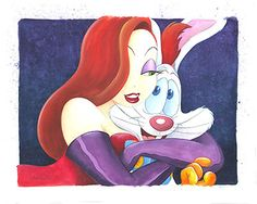Who Framed Roger Rabbit - Jessica's Main Squeeze - Original - Michelle St. Laurent - World-Wide-Art.com