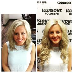 Cold fusion hair extensions done at illusions color spa by karen cold fusion hair extensions done by jess gorgeous long locks solutioingenieria Images