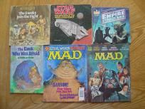 Star Wars Lot of Magazines Books w/Records Books