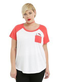 Hello Kitty Girls T-Shirt Plus Size, WHITE