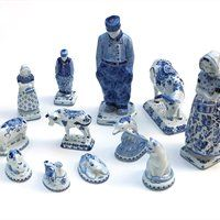 Delft Pottery- Of course it is Blue and White:)
