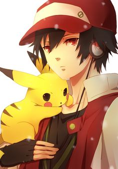 Pikachu and Red