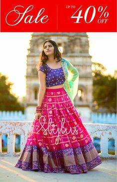 pink printed banglori silk festival lehenga choli WhatsApp us for Purchase & Half Saree Lehenga, Lehnga Dress, Bridal Lehenga Choli, Indian Lehenga, Silk Lehenga, Sari, Lehenga Blouse, Lehenga Skirt, Patiala Dress
