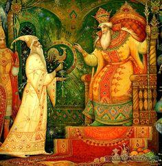 """""""Сказка о золотом петушке"""", Пушкин А.С. http://russkaja-skazka.ru/skazka-o-zolotom-petushke/ Негде, в тридевятом царстве, в тридесятом государстве,  жил-был славный царь Дадон. Смолоду был грозен он и соседям то и дело наносил обиды смело, но под старость захотел отдохнуть от ратных дел...  #сказки #картинки #ЗолотойПетушок #Пушкин #art #Russia #Россия #добро #дети  #иллюстрации #paint #картины #художник #RussianLacquerArt #RussianFairyTales @russkajaskazka"""