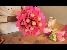 Cómo hacer un ramo de bombones Ferrero Rocher - YouTube