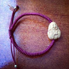 burghundy women's Buddha Bracelet by jenstock.com