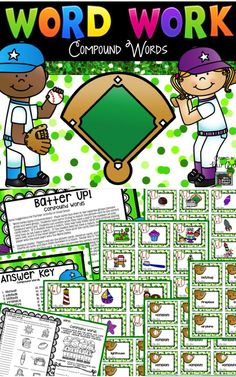 This compound words packet is full of engaging activities to help students master this reading skill.  Super easy to incorporate into your ELA lessons for whole group activities, literacy groups, partner activities, word work centers, RTI, ELL/ESL lessons, etc.  Click here to see what other teachers have to say about these fun phonics activities and games!