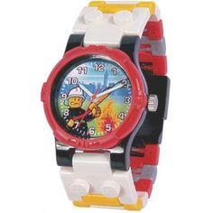 d2fecf5bf9e99 Montre Lego City 740426 - Montre Pompier Rouge Enfant