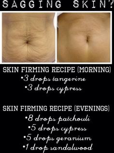 Young Living essential oils to help firm & tighten skin
