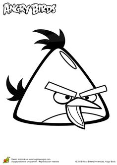 Un angry birds classique, à colorier