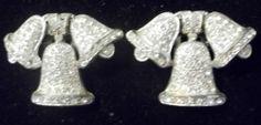 Art Deco Little Nemo Fur Dress Clips Brooch Set Pave Rhinestone Pair Bells | eBay