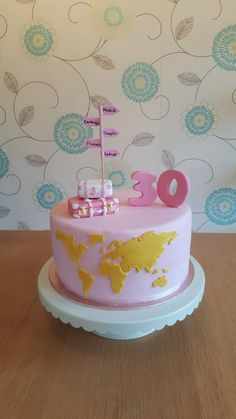 Custom design boutique cakes made to order with premium ingredients and special dietary requirements 29th Birthday Cakes, Girly Birthday Cakes, 30 Cake, Travel Cake, Christmas Cake Decorations, Best Party Food, Girl Cakes, Themed Cakes, Fun Desserts