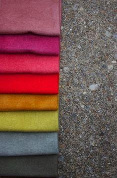 Alison Glass - Felted Wool - Warm Palette : Sew Modern