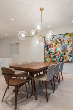 Dwr Bacco Dining Chairs by Omar De Biaggio - Set of 8 Dining Chandelier, Dining Room Light Fixtures, Chandelier In Living Room, Dining Lighting, Modern Chandelier, Bubble Chandelier, Dinning Room Lights, Contemporary Dining Room Lighting, Low Ceiling Lighting