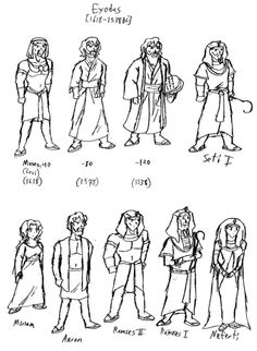 Animation Character Designs of Essenes | Sunday School ...