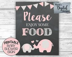 This cute PRINTABLE pink & gray elephant sign is an easy and affordable way to add to your baby shower decor! ♥♥♥ PLEASE NOTE: THIS LISTING IS FOR PRINTABLE DIGITAL FILES - NOTHING IS PHYSICALLY SENT THROUGH THE MAIL ♥♥♥ INSTANT DOWNLOAD - once your payment has been processed the files will be available to download directly from the Etsy website. You will receive an e-mail from Etsy with a link to download the files. You will also be able to find the files under your purchases and revie...