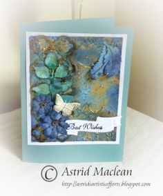 International Flair designer, Astrid Mclean, Best Wishes Card