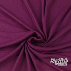 DARK MAGENTA Rayon Jersey Knit Fabric Magenta by StylishFabric, $4.20