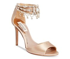 Badgley Mischka Denise Ankle-Strap Sandals - Evening & Bridal - Shoes - Macy's