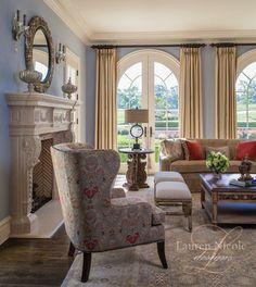 Traditional Living Room Interior Design - traditional - Living Room - Charlotte - Lauren Nicole Designs